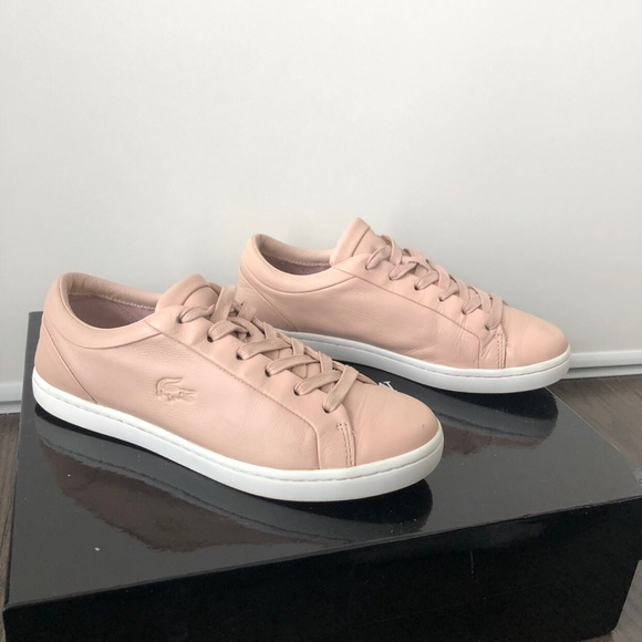 Lacoste Shoes - Baby Pink Lacoste Sneakers